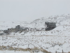 An abandoned coal mine on a mountain road leading to Red Lodge, Montana.